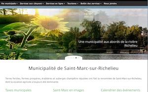Municipalité de Saint-Marc-sur-Richelieu - Montérégie, Saint-Marc-sur-Richelieu