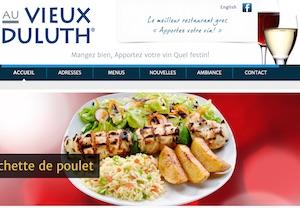 Restaurant Au Vieux Duluth - Montérégie, Saint-Jean-sur-Richelieu