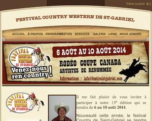 Festival Country-Western de Saint-Gabriel - Bas-Saint-Laurent, Saint-Gabriel-de-Rimouski