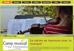 Camp musical du lac Matapédia - Gaspésie, Sayabec
