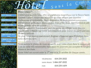 Hôtel Sous la Croix - Côte-Nord / Manicouagan, Tadoussac