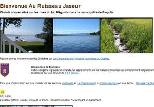 Au Ruisseau Jaseur (Le Roselin) (Le Chardonneret) - Estrie / Canton de l'est, Piopolis