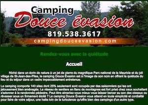 Camping Douce Évasion - Mauricie, Shawinigan (Saint-Jean-des-Piles)