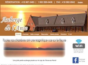 Auberge de l'Anse - Bas-Saint-Laurent, Rivière-du-Loup