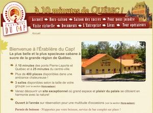 L'Érablière du Cap inc. (Cabane à Sucre) - Chaudière-Appalaches, Lévis (Lévis) (Les Chutes-de-la-Chaudière-Ouest)