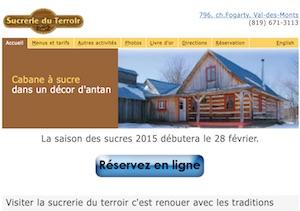 Sucrerie du Terroir (Érablière) (Cabane à Sucre) - Outaouais, Val-des-Monts