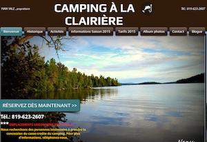 Camping à la Clairière - Laurentides, Mont-Laurier