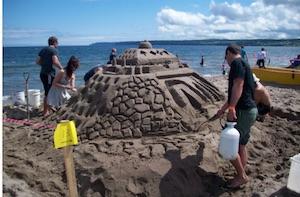 Concours chateaux de sable - Gaspésie, Gaspé