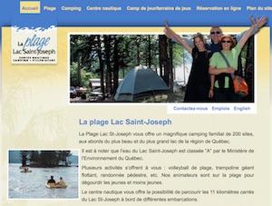 Camping Plage Lac Saint-Joseph - Capitale-Nationale, Fossambault-sur-le-Lac