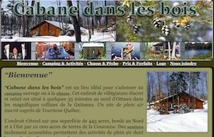 Camping dans les Bois  ( Camping in the Woods ) - Outaouais, La Pêche