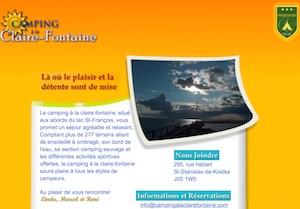 Camping à la Claire Fontaine - Montérégie, Saint-Stanislas-de-Kostka