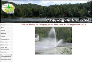 Camping du Domaine du Lac Paré - Lanaudière, Chertsey