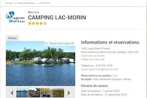 Camping du Lac Morin - Lanaudière, Saint-Lin Laurentides