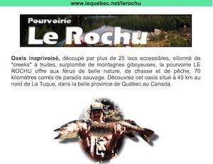 Pourvoirie le Rochu - Mauricie, La Tuque