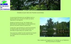 Domaine du Lac Malloon - Laurentides, Lac-du-Cerf