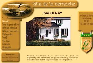 Gîte de la Bernache - Saguenay-Lac-Saint-Jean, Saguenay (Saguenay) (V) (Chicoutimi)