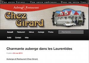 Auberge chez Girard - Laurentides, Sainte-Agathe-des-Monts