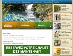 Chalets, Parc des Chutes de Ste-Ursule - Mauricie, Sainte-Ursule
