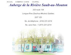Auberge de la rivière Sault-au-Mouton - Côte-Nord / Manicouagan, Longue-Rive (Sault-aux-Moutons)