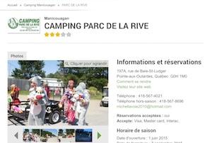 Camping parc de la Rive - Côte-Nord / Manicouagan, Pointe-aux-Outardes