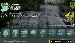 Camping - Chalets des Chutes Fraser - Charlevoix, Rivière-Malbaie