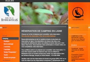 Camping parc de la rivière Bastican - Mauricie, Saint-Narcisse
