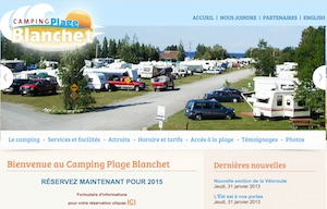 Camping plage Blanchet - Saguenay-Lac-Saint-Jean, Chambord (Lac-St-Jean)