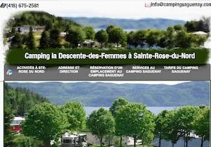 Camping la Descente des Femmes - Saguenay-Lac-Saint-Jean, Sainte-Rose-du-Nord (Saguenay)