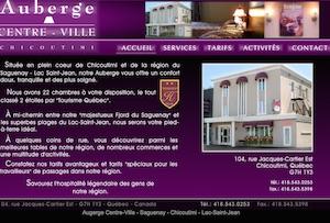 Auberge Centre-Ville - Saguenay-Lac-Saint-Jean, Saguenay (Saguenay) (V) (Chicoutimi)