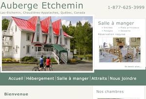 Auberge les Etchemins - Chaudière-Appalaches, Municipalité Lac-Etchemin (Bellechasse)