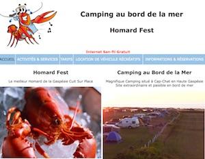 Camping Au Bord de la Mer - Gaspésie, Cap-Chat