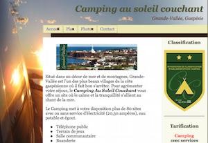 Camping Au Soleil Couchant - Gaspésie, Grande-Vallée