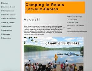 Camping le Relais - Mauricie, Lac-aux-Sables