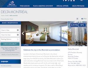 Hôtel Delta Montréal - Montréal, Montréal