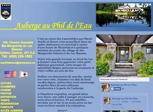 Auberge Au Phil de l'Eau - Laurentides, Sainte-Marguerite-du-Lac-Masson