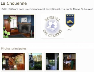 Auberge la Chouenne - Charlevoix, La  Malbaie (Cap-à-l Aigle)