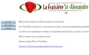 Fraisières St-Alexandre - Montérégie, Saint-Alexandre-d'Iberville