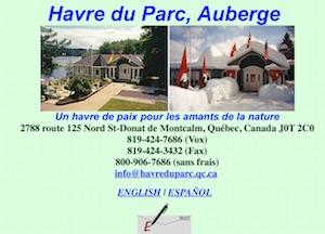 Auberge Havre du Parc - Lanaudière, Saint-Donat-de-Montcalm