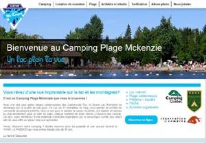 Camping Plage Mckenzie - Estrie / Canton de l'est, Municipalité Racine