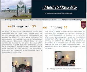 Motel Le Rêve d'Or - Abitibi-Témiscamingue, Amos