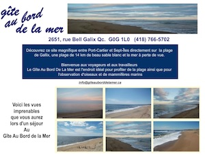 Gîte Au bord de la mer - Côte-Nord / Duplessis, Sept-Îles (Gallix)