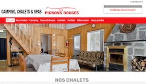 Camping chalets et Spas des Pignons Rouges - Estrie / Canton de l'est, Saint-Romain (M)