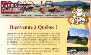 Camping Plage Fortier - Capitale-Nationale, L'Ange-Gardien