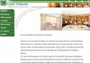 Motel à la Claire Fontaine - -Centre-du-Québec-, Plessisville