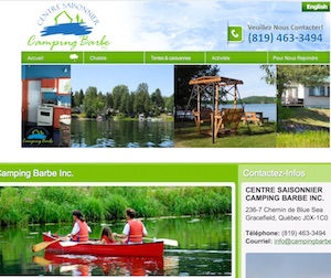 Camping Barbe - Outaouais, Gracefield