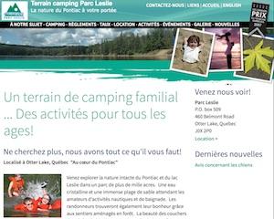 Camping du Parc Leslie - Outaouais, Otter Lake