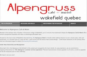 Motel Alpengruss Café - Outaouais, Wakefield