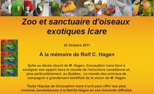 Zoo d'oiseaux exotiques Icare - Estrie / Canton de l'est, Roxton Pond