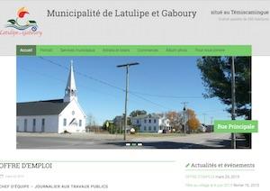Municipalité de Latulipe - Abitibi-Témiscamingue, Latulipe-et-Gaboury