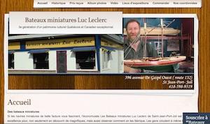 Bateaux miniatures Luc Leclerc - Économusée des bateaux miniatures - Chaudière-Appalaches, Saint-Jean-Port-Joli (Côte-du-Sud)